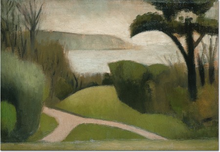 Near Swanage, 1916 (oil on board)