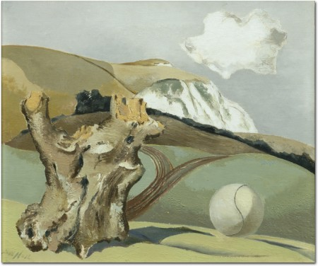 Event on the Downs, 1934 (oil on canvas)