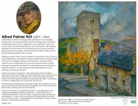 Latest Swanage Seen Art Board, Alfred Palmer ROI