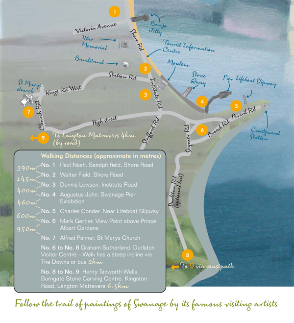 Swanage Seen walking trail map - get a copy from local Tourist Information Centres